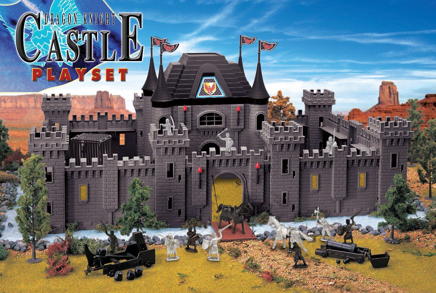 Toy Castles For Boys : New toy major deluxe jumbo dragon knight castle playset