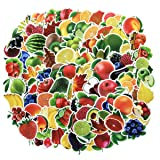Cute Water Bottle Stickers Fruits Vegetables Stickers 100pcs Variety Vinyl Car Motorcycle Bicycle Luggage Decal Graffiti Patches Skateboard Waterproof Stickers(Fruits and Vegetables) (Color: fruits and vegetables)