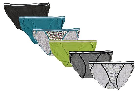 Hanes Premium Sporty String Bikinis cotton spandex Plus size