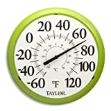 Taylor Big and Bold Dial Thermometer, 13.25-Inch, Green