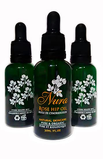 Nura Natural 100% Organic Cold Pressed Rosehip Seed Oil - Natural Skin Care