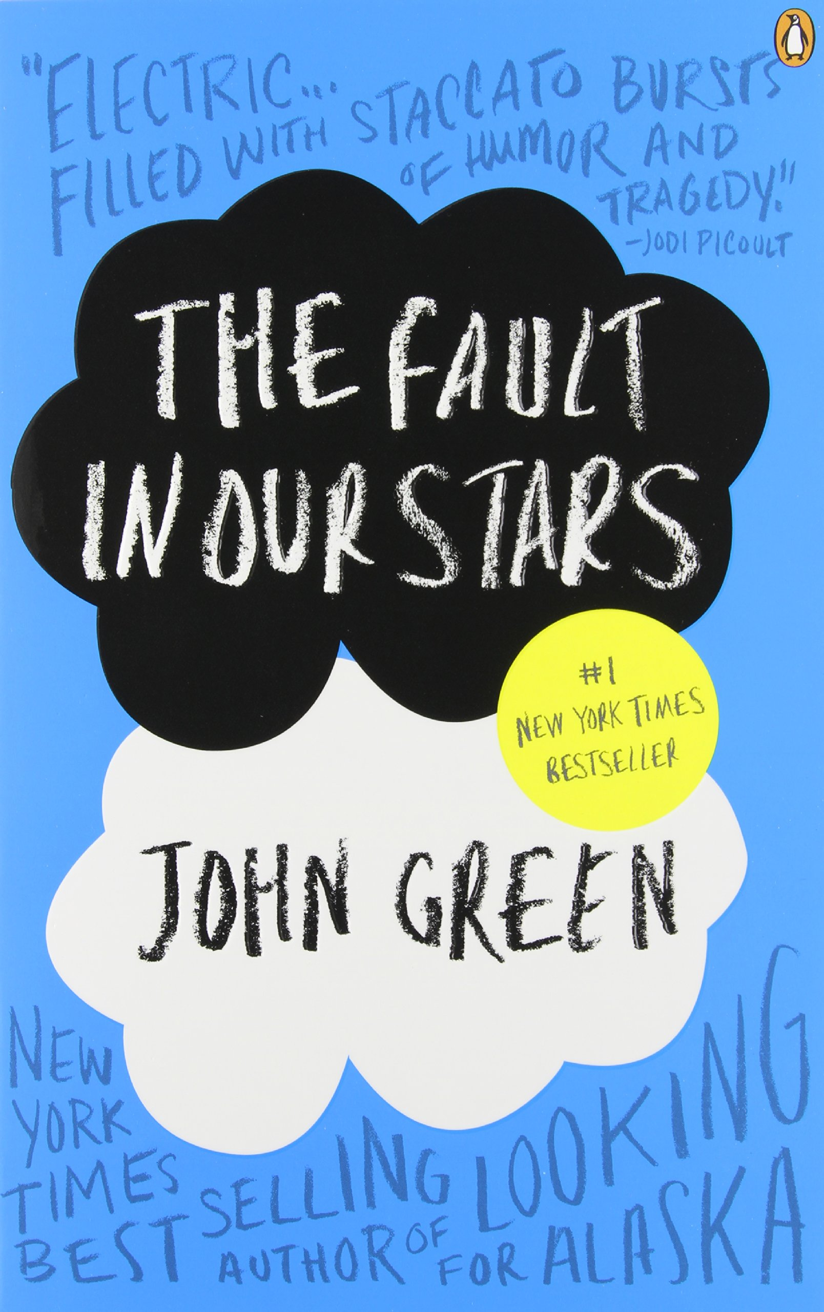 Book cover to 'The Fault in Our Stars'