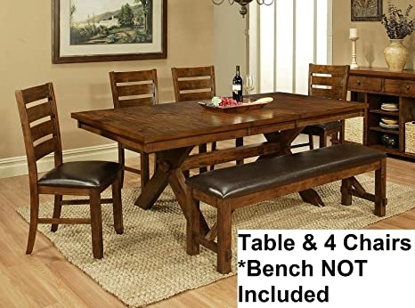 Vineyard Dining Table Set 4 Chairs
