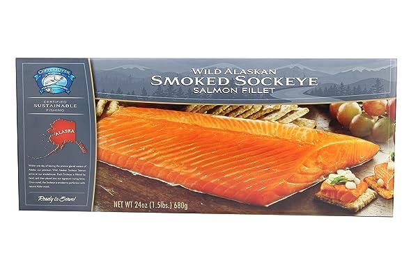 Smoked Wild Alaska Sockeye Salmon