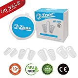ZPER Nasal Dilator- Reusable Anti-Snoring Device for Comfortable Deep Sleep, Effective Natural Aid, Physical Exercise, Flexible Soft Silicone (4 Pairs, 2x Big, 2x Small with travel case)