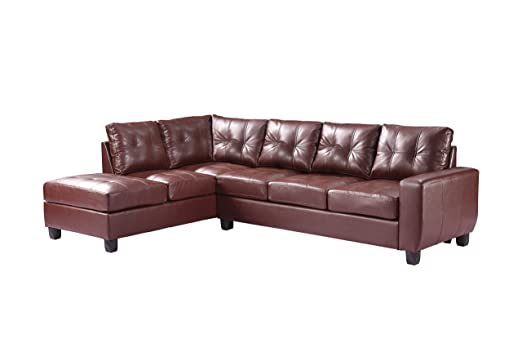 Glory Furniture G200B-SC Sectional Sofa, Brown, 2 boxes