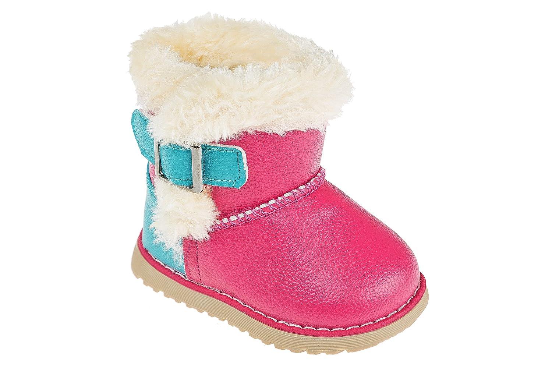 GIBRA® Winterstiefel für Kinder, warm gefüttert, mit Klettverschluss, pink/türkis, Gr. 22-27 bestellen