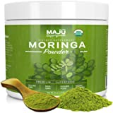 MAJU's Organic Moringa Powder: NON-GMO, Guaranteed Purest, 100% Raw Moringa by Maju Superfoods (Color: Green)