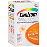 Centrum Specialist Energy (120 Count) Complete Multivitamin / Multimineral Supplement Tablet, Vitamin D3 and Vitamin C