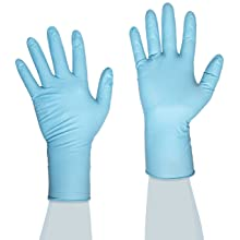 "Ammex GlovePlus HD Exam Grade Heavy Duty Nitrile Glove, Powder Free, 12"" Length, 4 mils Thick"