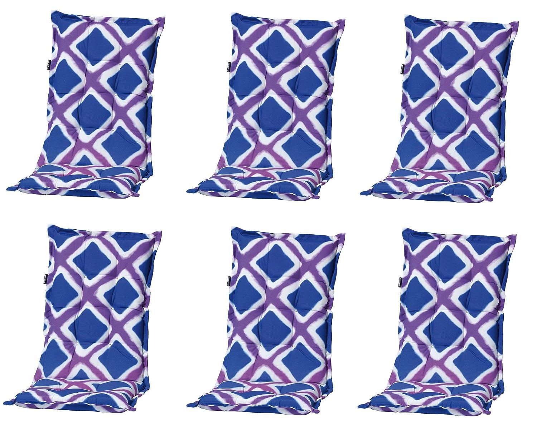 """6 x 8 cm Luxus Hochlehner """"C 340"""", blau lila kariert günstig online kaufen"""