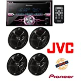 Pioneer FH-X720BT 2-DIN CD Receiver with Mixtrax and Bluetooth (Discontinued by Manufacturer) W/ JVC CS-J620 300W 6.5