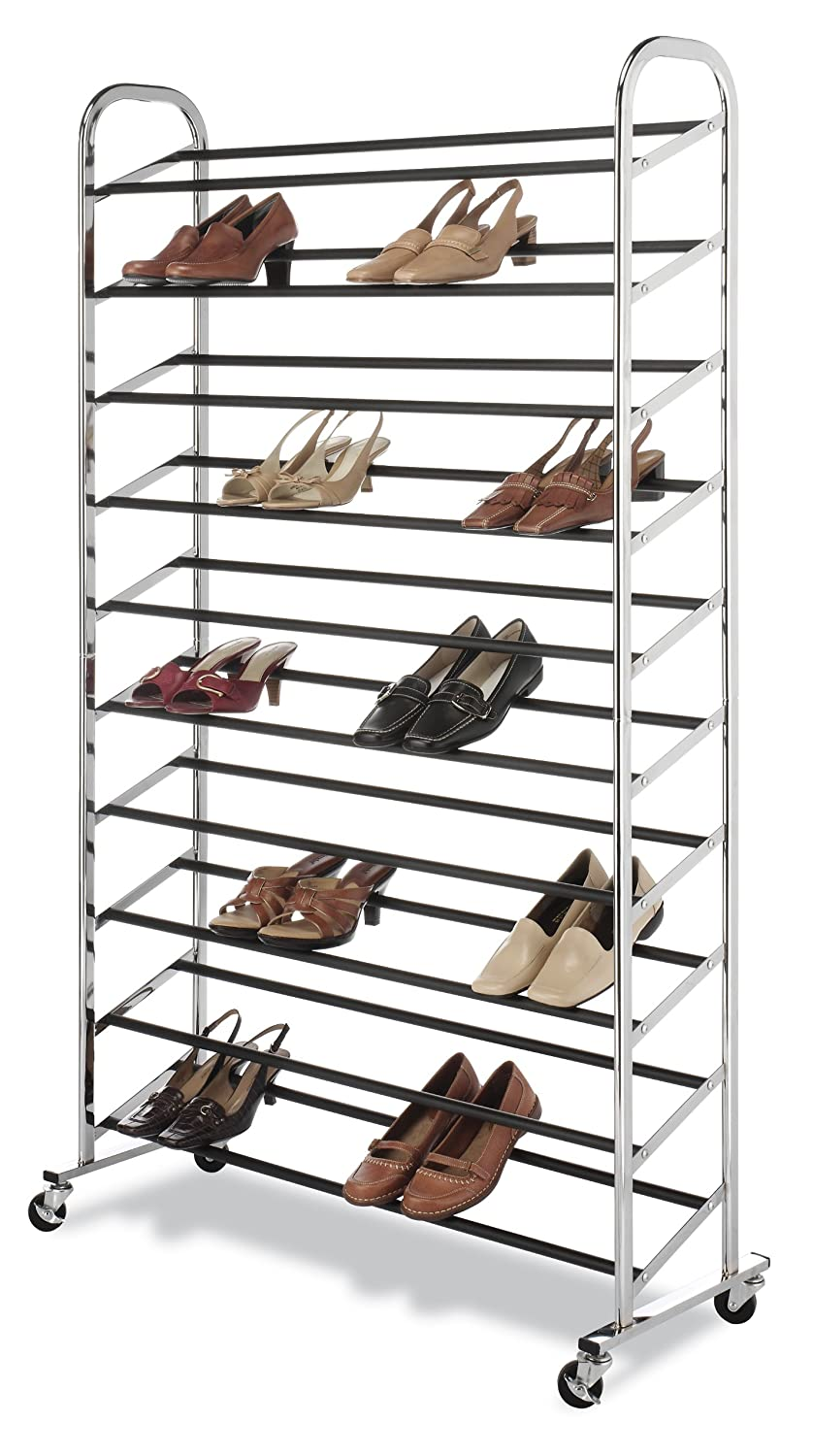 Closet shoe rack portable stand organizer chrome storage for Mueble zapatero amazon