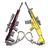 Mini Simulation Playerunknown's Battlegrounds Weapon Gun Keychain,Gift,Accessories (DSR_Scar-L) (Color: Dsr_scar-l)