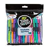 Crayola Take Note 24Count Washable Gel Pens & 1 Bonus Permanent Marker, Assorted Colors, .7Mm Medium Tip, Gift (Color: Multicolor)