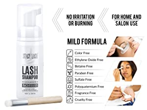 61c60293789 Eyelash Extension Shampoo Stacy Lash + Brush / 50ml / Eyelid Foaming  Cleanser/Wash for Extensions and Natural ...