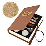 SAMYO Classic Sealing Wax Seal Stamp Vintage Old-Fashioned Antique Brass Pattern Creative Romantic Stamp Maker for Postage Letter Holiday Gift Cards (Good Luck) (Color: Good Luck)