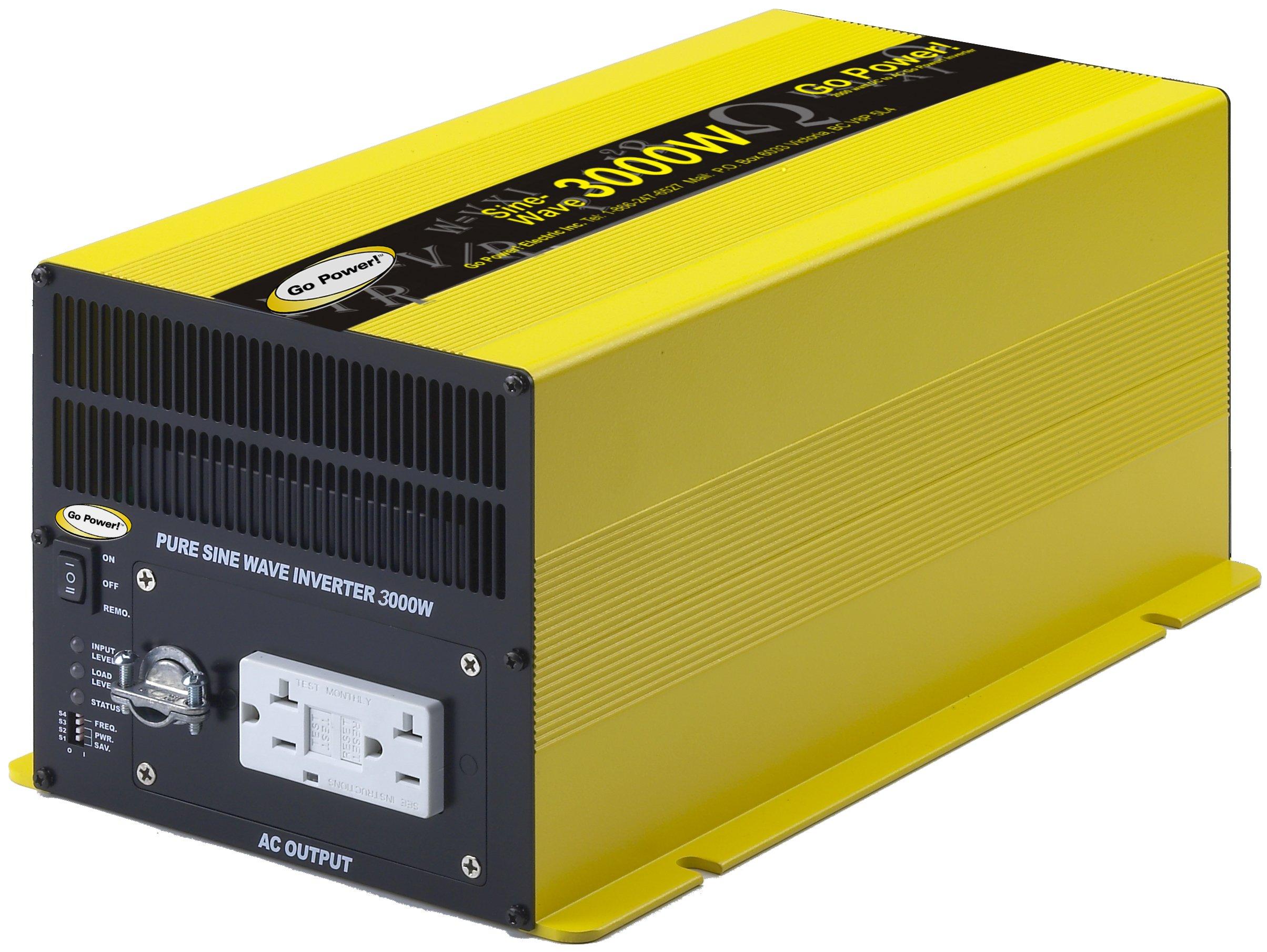 NEW - Go Power! GP-SW3000-12 3000-Watt Pure Sine Wave Inverter, Free ...