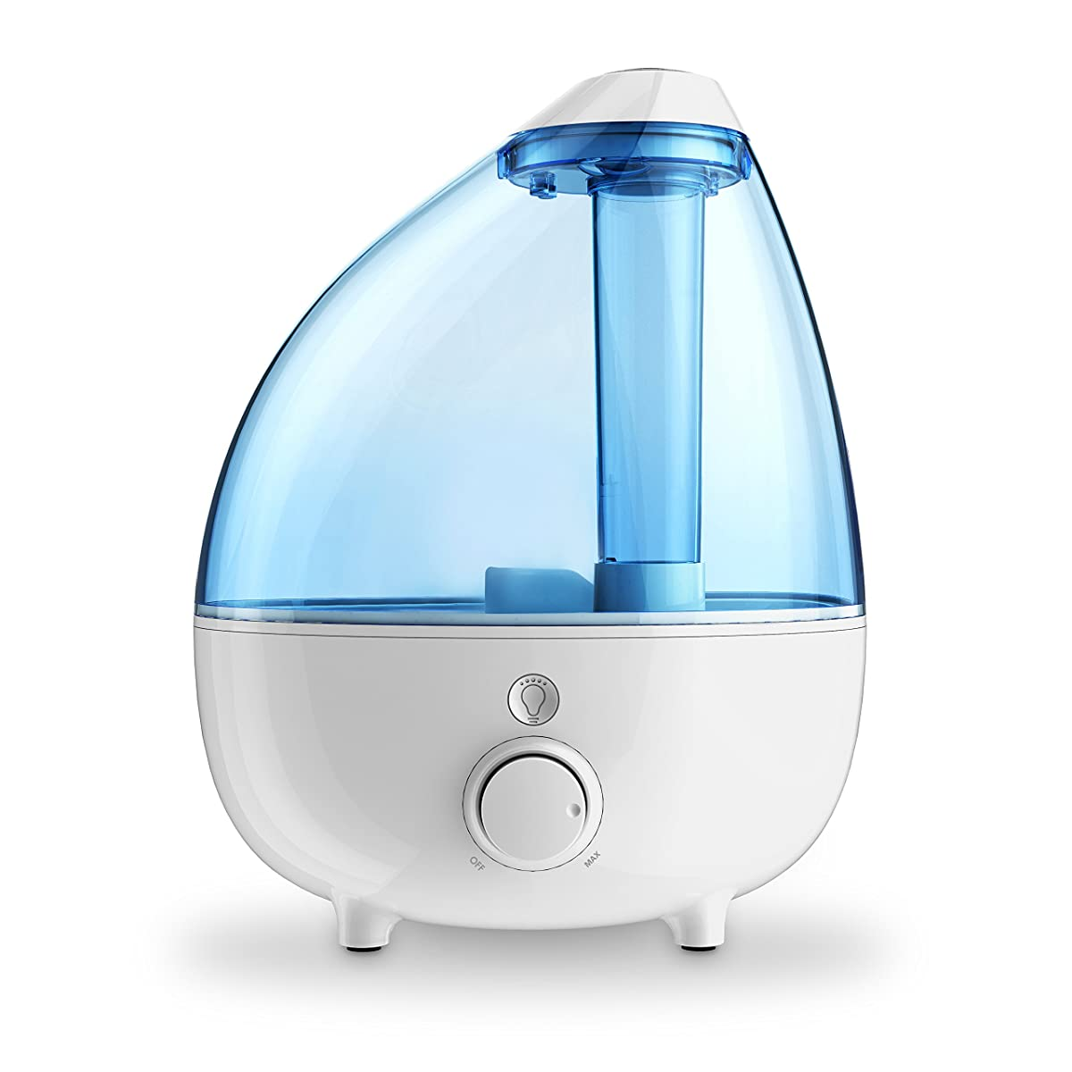 Ultrasonic Cool Mist Humidifier XL – 1-Gallon Water Tank with Variable Mist Control, Automatic Shut-Off, and Soft Night Light Options