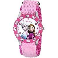 Disney W000970 Kids Frozen Snow Queen Watch with Pink Nylon Band