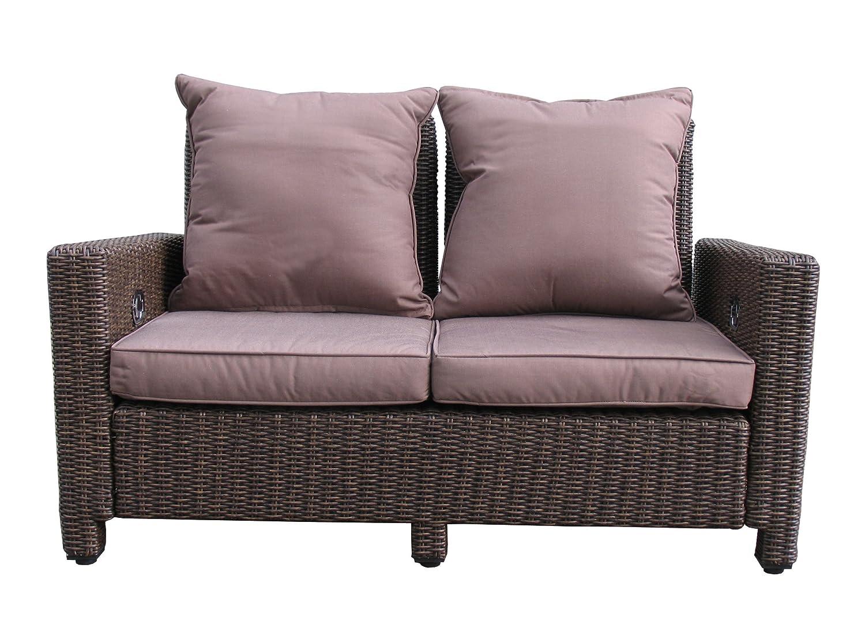 Lounge Sofa 2 sitzig Ibiza verstellbar