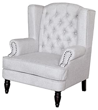 "Febland ""Silverdale"" Arm Chair, Fabric, Grey"