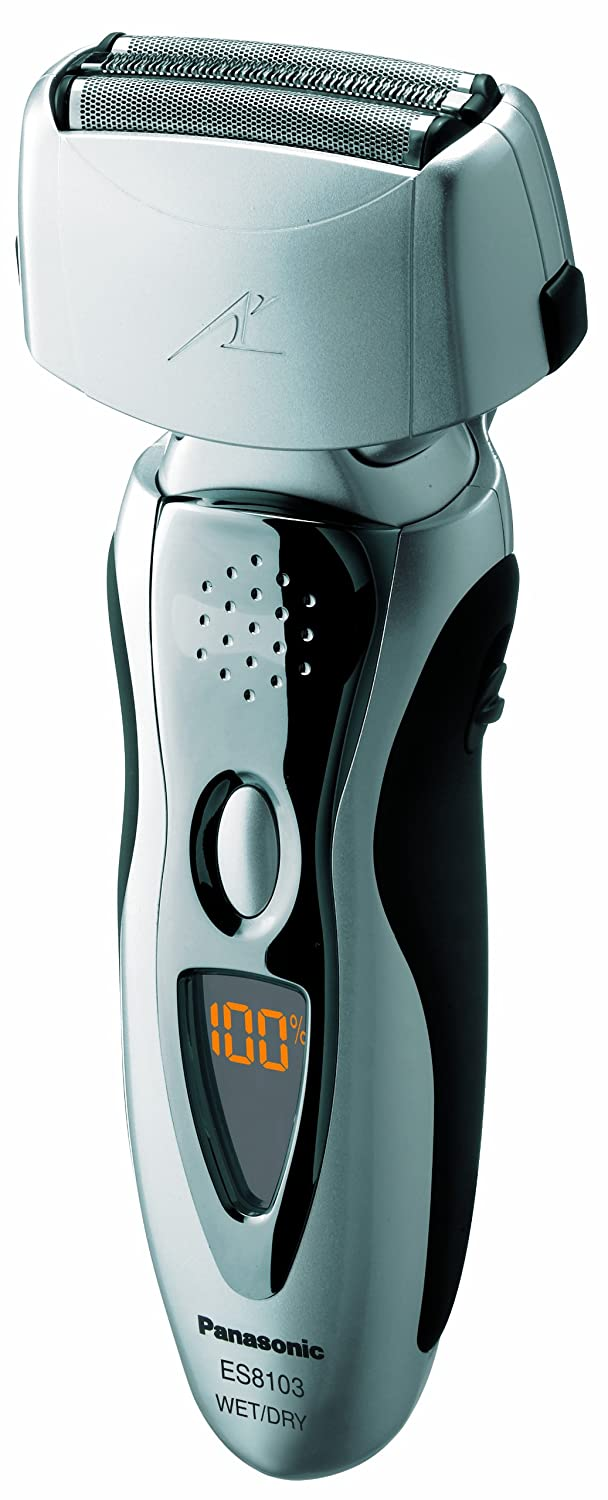 Panasonic ES8103S Men's 3-Blade (Arc 3) Wet/Dry Rechargeable Electric Shaver with Nanotech Blades, Silver $54.99