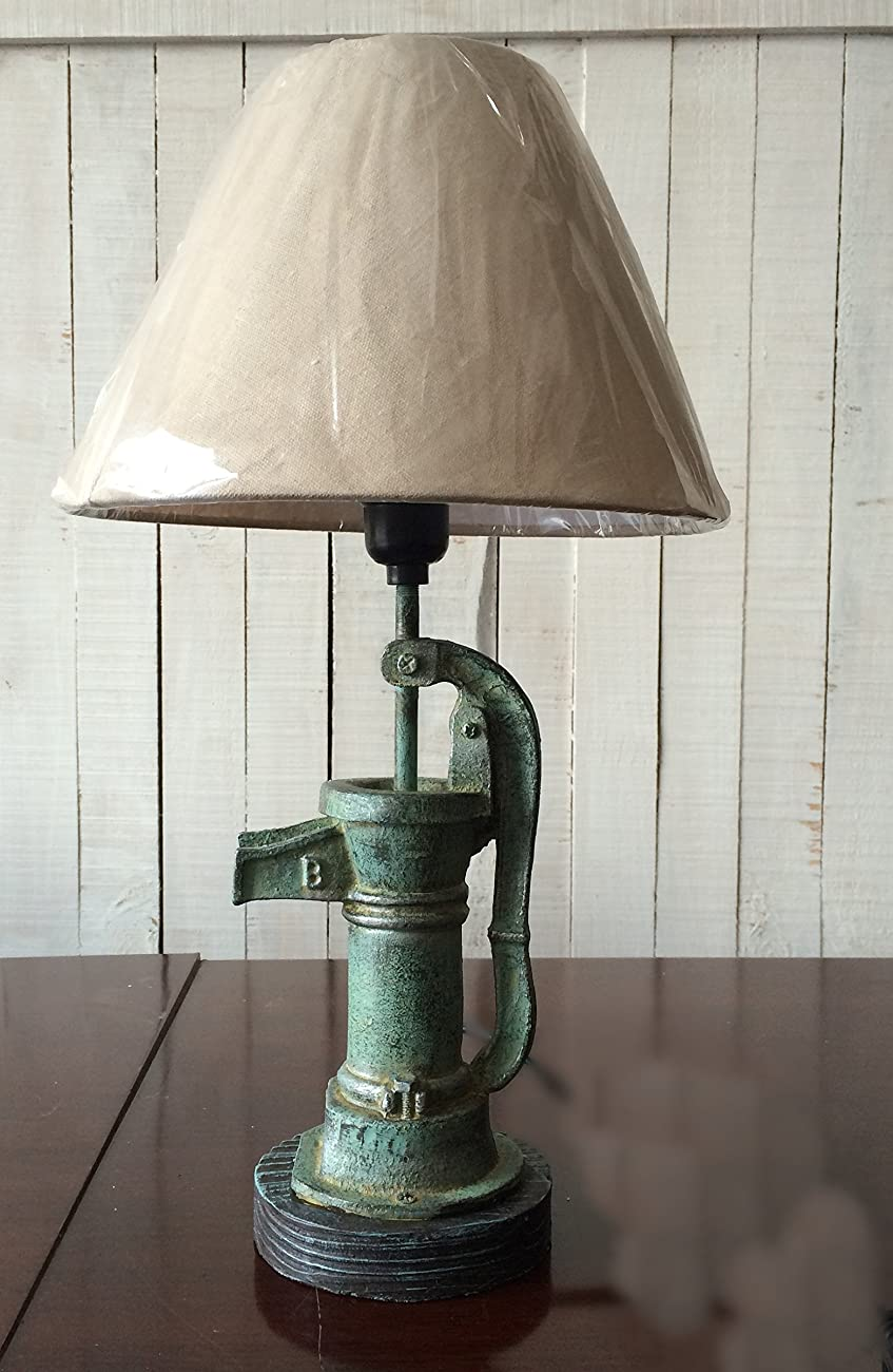 Vintage style Mock Water Pump Lamp Table lamps with shade 0