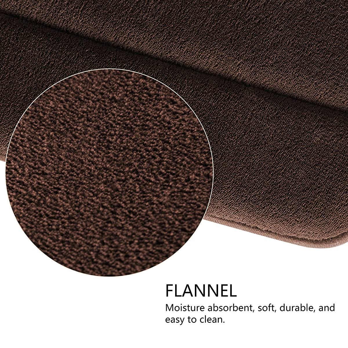 "Norcho 47"" x 17"" Anti-Fatigue Memory Foam Runner 35D Extra Long Ultra Soft HD Bathroom Rubber Back Anti-slip Rug Mat Brown"