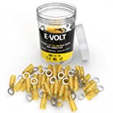 E-VOLT Heat Shrink Ring Connectors - 80 PC 1/4