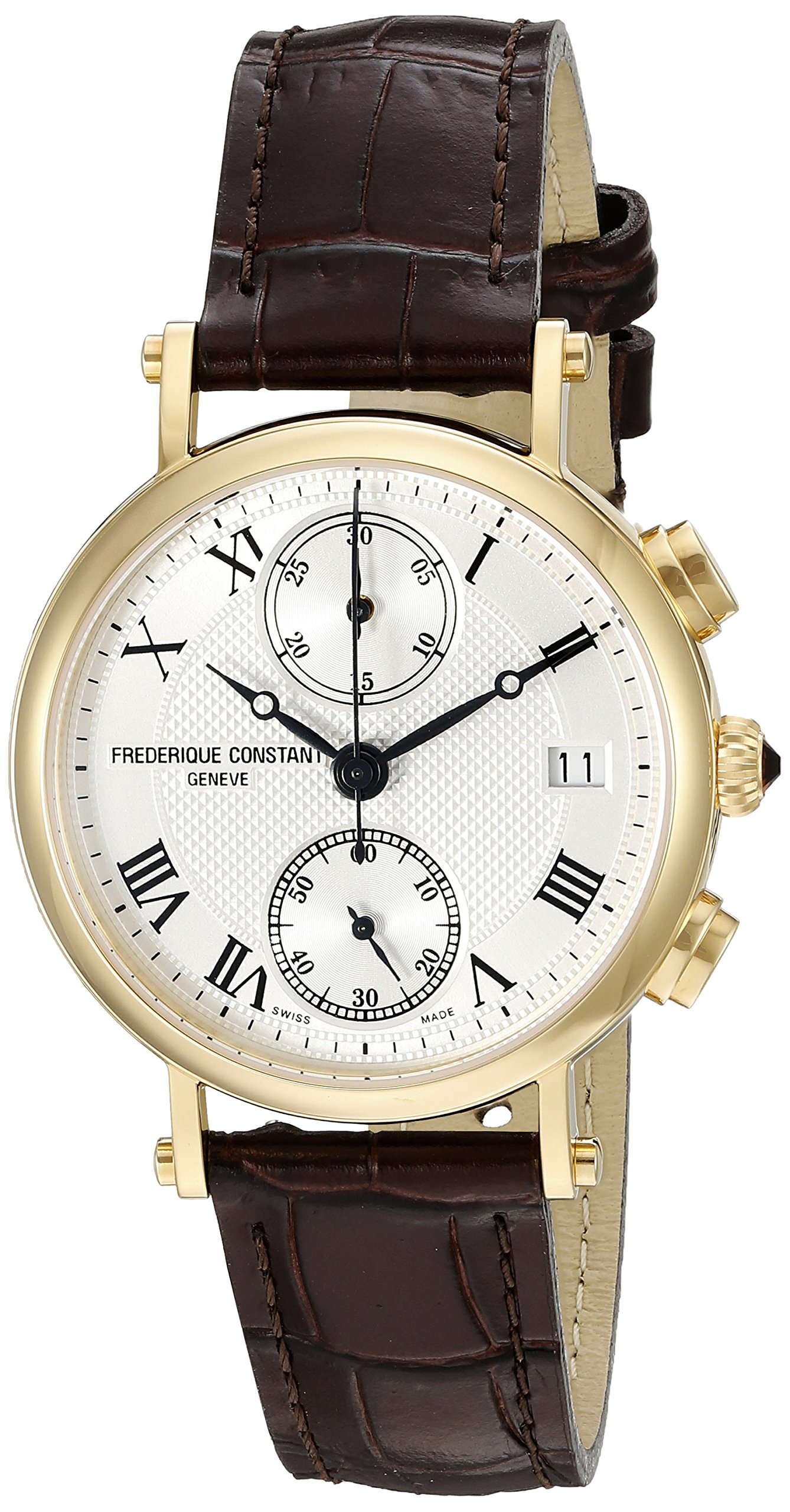 Frederique Constant Women's FC291MC2R5 Classics Analog Display Swiss Quartz Brown Watch