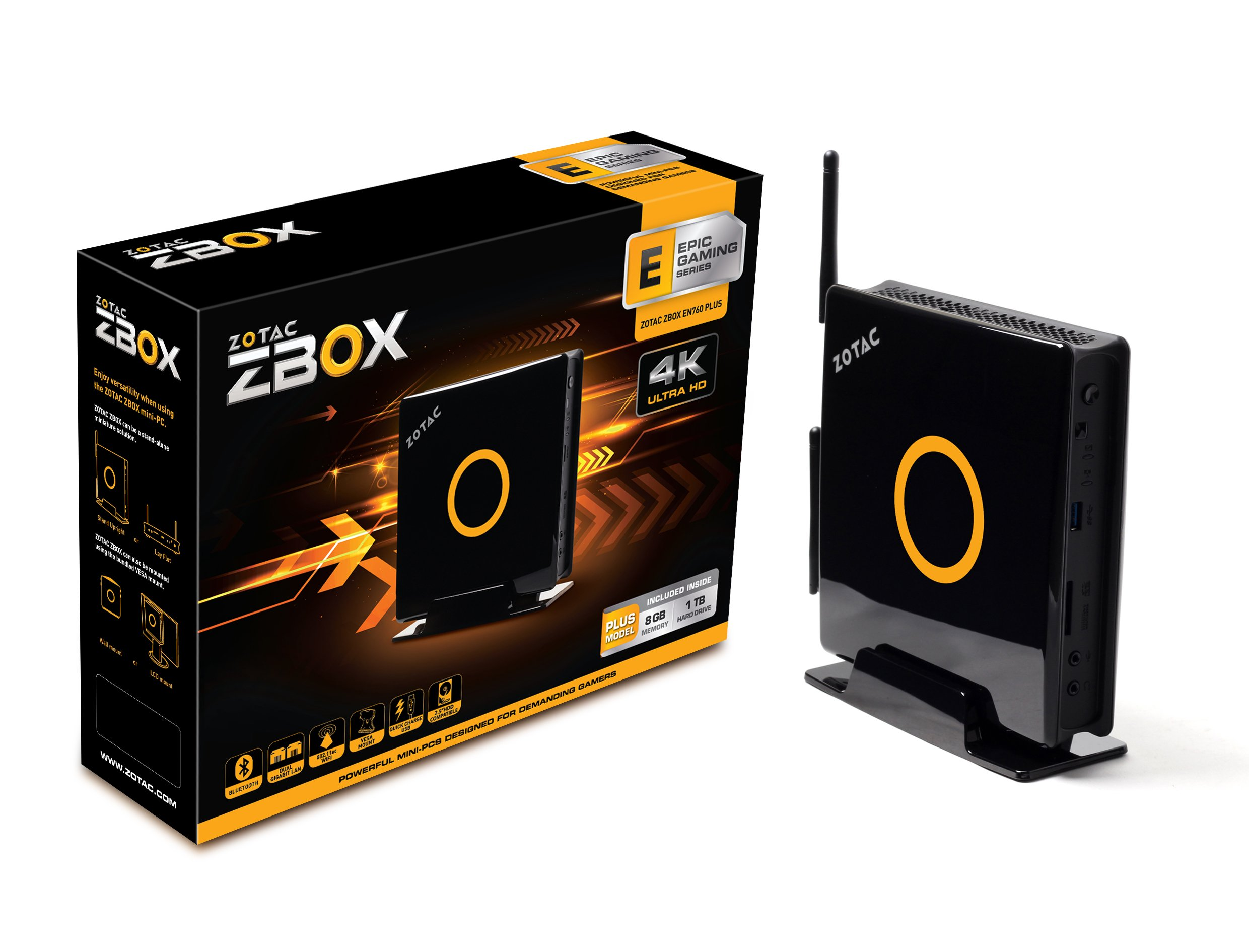 ZOTAC ZBOX E series Mini PC with Intel Core i5 4200U, dual-core, 1.6 GHz, Turbo up to 2.6 GHz Barebone System (ZBOX-EN760-P-U )