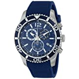 Nautica Men's N15103G NST 09 Stainless Steel Watch with Blue Silicone Band (Color: Blue)