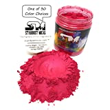 Stardust Micas Pigment Powder Cosmetic Grade Colorant for Makeup, Soap Making, Epoxy Resin, DIY Crafting Projects, Bright True Colors Stable Mica Batch Consistency Red Strawberry (Color: Red Strawberry, Tamaño: 72 Gram Jar)