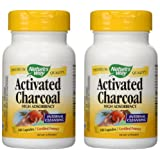 Nature's Way Activated Charcoal High Absorbency Supplement, 100 Count (Pack of 2) (Tamaño: 2 pck)