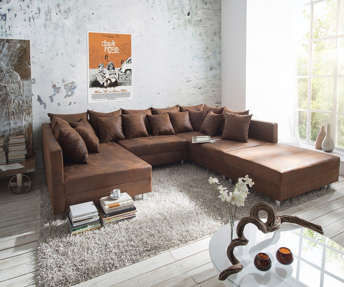 xxl sofa im landhausstil kaufen gem tlich im. Black Bedroom Furniture Sets. Home Design Ideas