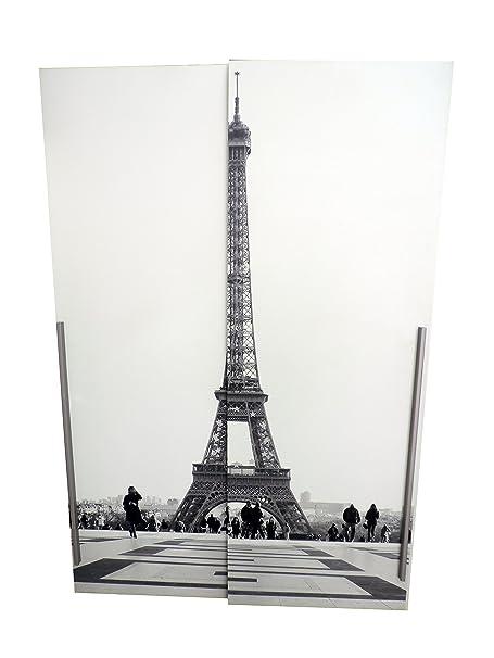 Cloud Tower–Armario 2puertas correderas de madera melamina blanco
