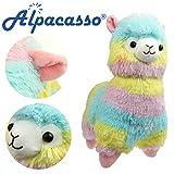 Alpacasso 14'' Rainbow Plush Alpaca, Cute Stuffed Animals Toys. (Color: Rainbow)