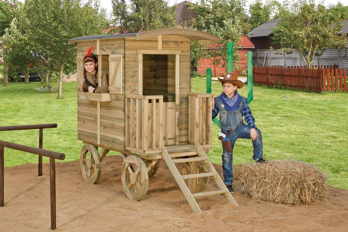 Kinderspielhaus 4 Wagen – Abmessungen: 156 x 90 cm günstig online kaufen