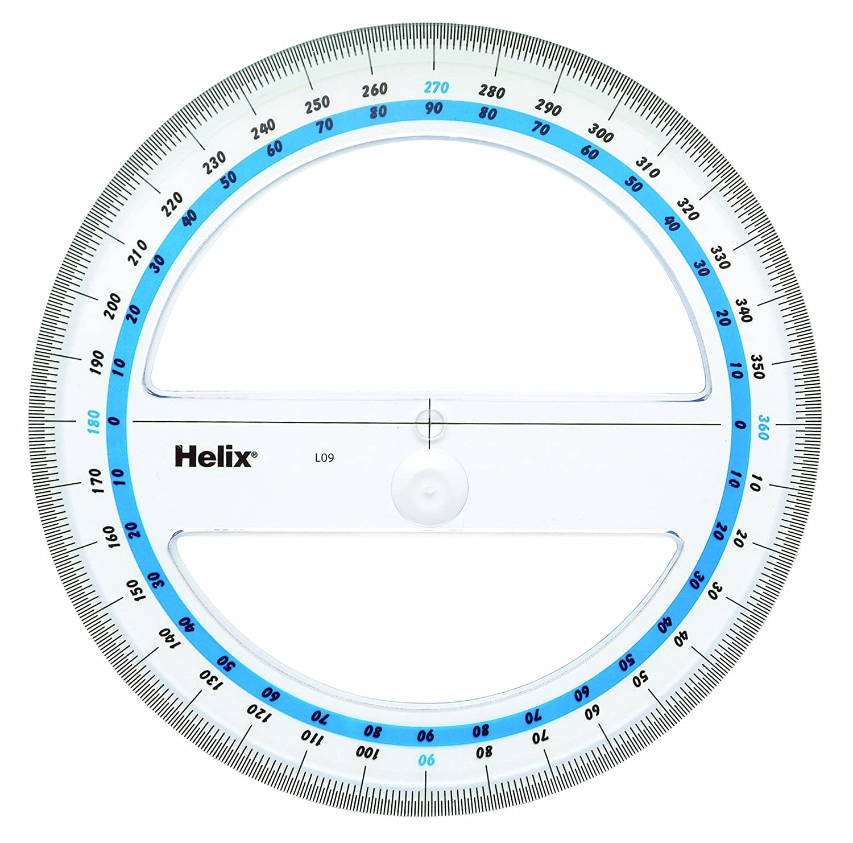 Amazon com Helix 6-Inch 360 360 Protractor