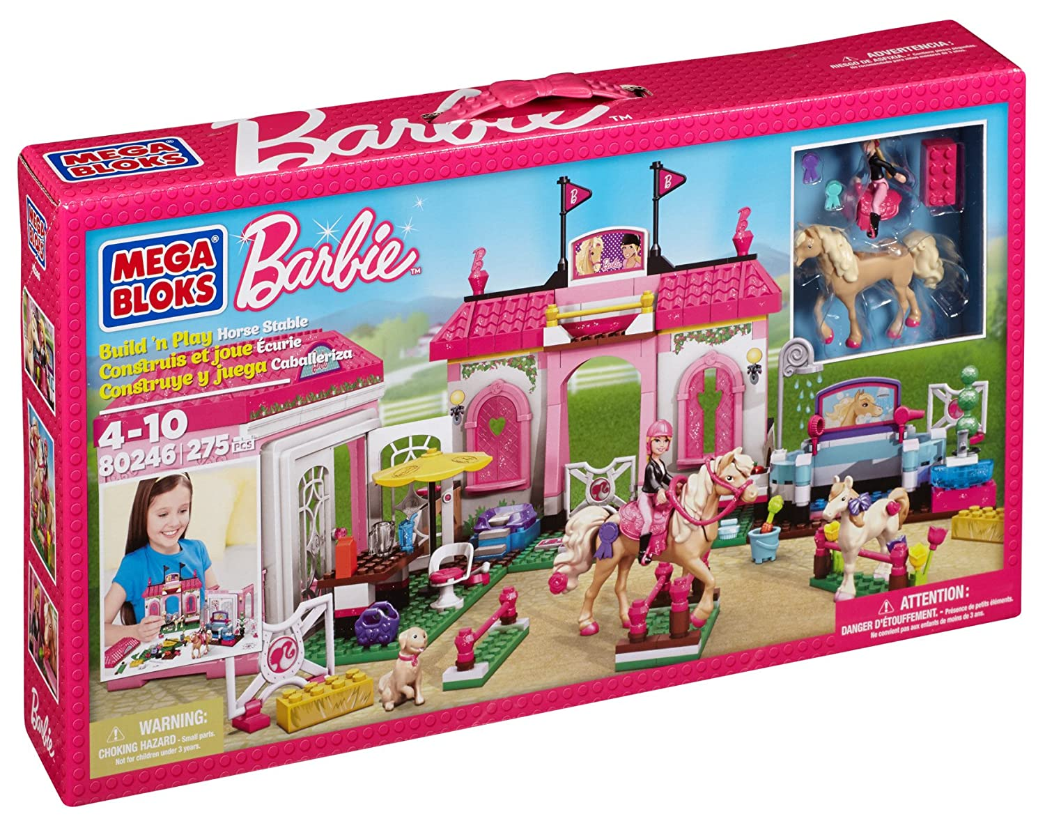 Mega Bloks 80246 – Barbie – Build n Style Pony Hof günstig