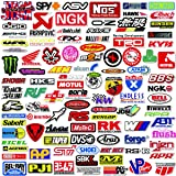 POP Sticker Car & Moto Modified Brand Logo Series Sticker Pack (103 pcs) Vinyl Stickers for Laptop,Car,Moto,Skateboard,Bike,Luggage,iPhone.Graffiti Decal for Family,Friends,Children,Adults-Waterproof (Color: refit logo stickers)