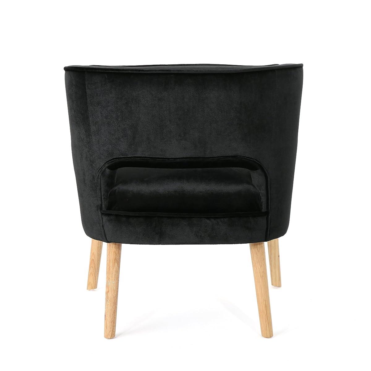 Michaela Mid Century Black Velvet Accent Chair