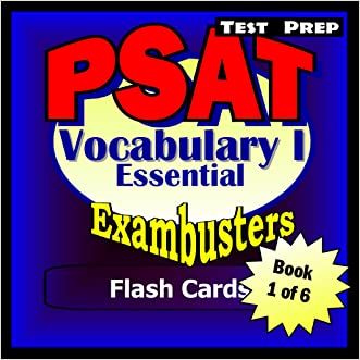PSAT Test Prep Essential Vocabulary 1 Review--Exambusters Flash Cards--Workbook 1 of 6: PSAT Exam Study Guide (Exambusters PSAT)