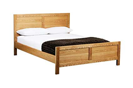 Premier Housewares Eden Double Bed Frame, 102 x 145 x 199 cm - Oak