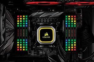 Corsair Dominator Platinum RGB 64GB (4x16GB) DDR4 3600 (PC4-28800) C18 1.35V Desktop Memory (Color: RGB, Tamaño: 64GB (4x16GB))
