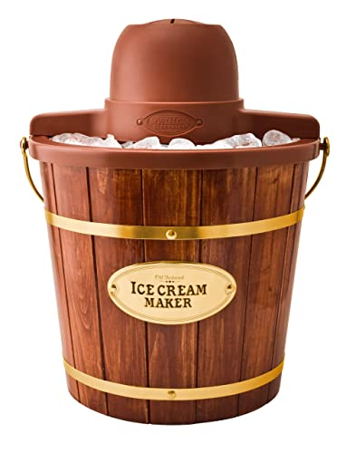 wooden bucket electric ice cream maker