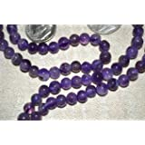 AMETHYST JAPA MALA BEADS A++ GRADE PRAYER NECKLACE. BLESSED & ENERGIZED (108+1) HINDU TIBETAN BUDDHIST PRAYER KARMA BEADS SUBHA ROSARY MALA FOR NIRVANA, BHAKTI, FOR REMOVING INNER DOSHAS, FOR CHANTING AUM OM, FOR AWAKENING CHAKRAS, KUNDALINI THROUGH YOGA MEDITATION-FREE OM MALA POUCH INCLUDED - USA SELLER