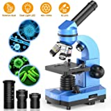 Science Microscope for Kids Beginners Children Student,40X- 1000X Monocular Microscopes with 52 pcs Educational Science Kits