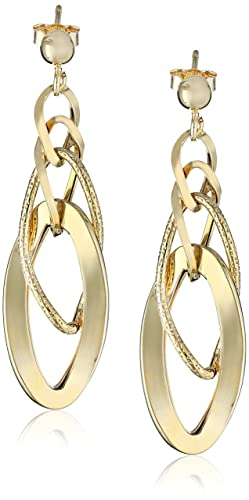 14k-Italian-Yellow-Gold-Polished-and-Textured-Dangle-Earrings-1-75-